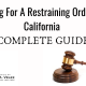 Restraining Order in California